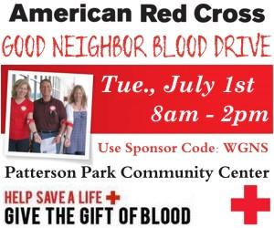 Reasons to Give Blood TODAY 8AM to 2PM | Red Cross, Blood drive, Good Neighbor, Good Neighbor Blood Drive, Patterson Park blood drive, WGNS blood drive, Red Cross blood drive, Murfreesboro blood drive, WGNS News, Murfreesboro news